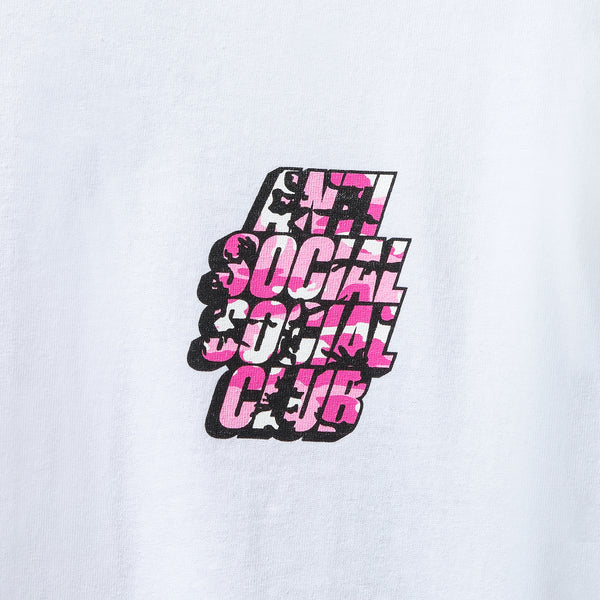 Blocked Pink Camo White Tee