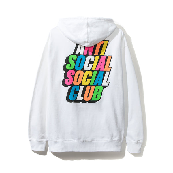 Blocked Rainbow White Hoodie