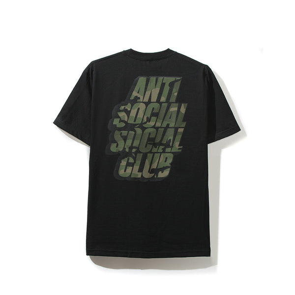 Blocked Camo Black Tee