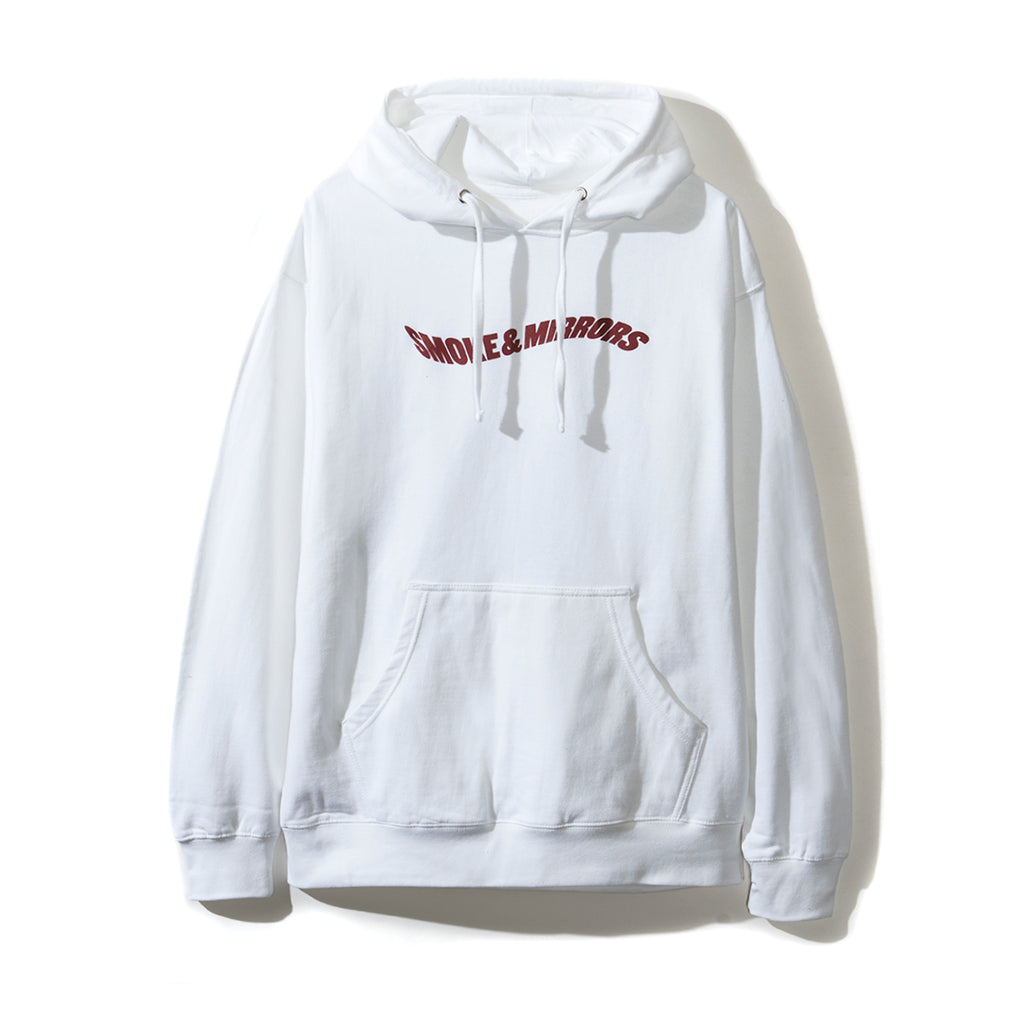Smoke and Mirrors White Hoodie