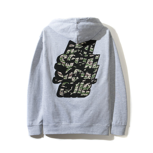 Blocked Tiger Camo Grey hoodie
