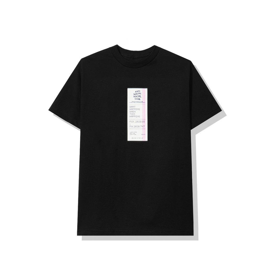 Read Receipts Black Tee