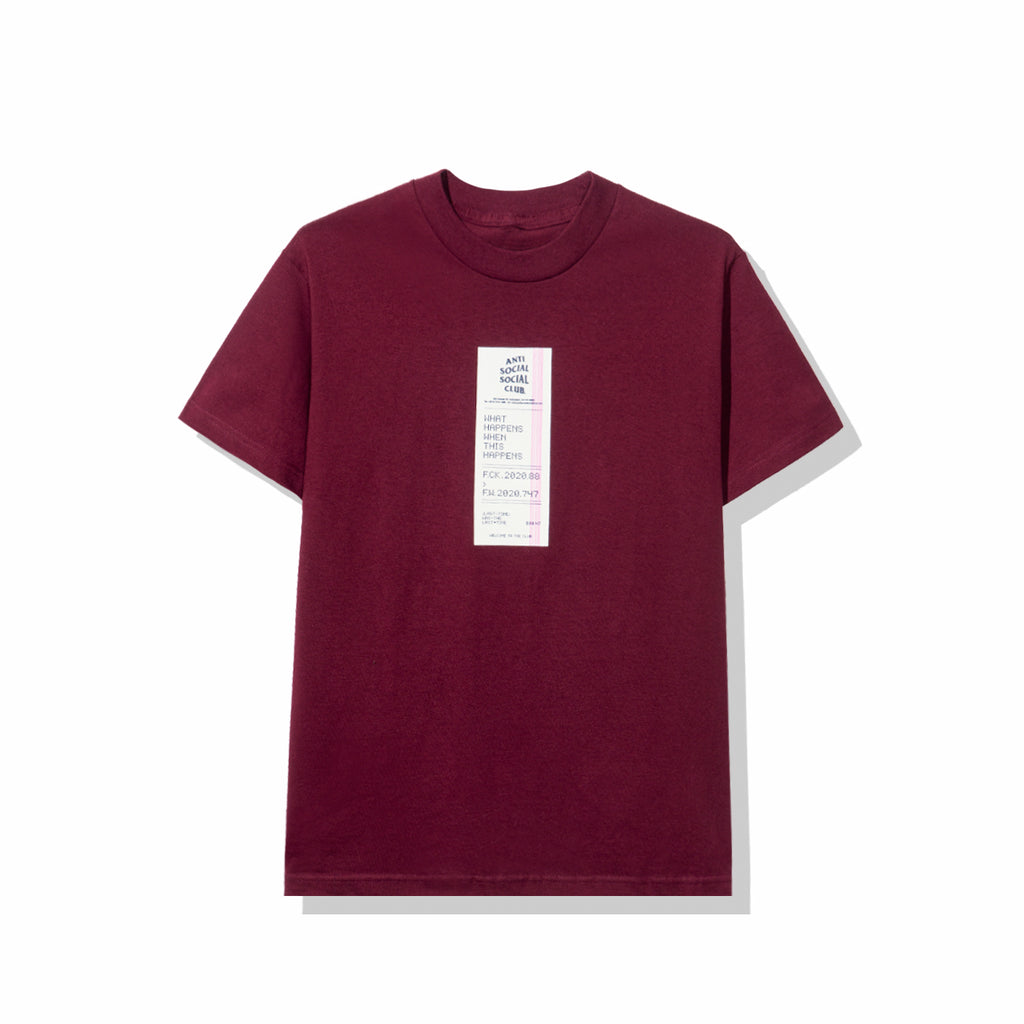 Read Receipts Maroon Tee