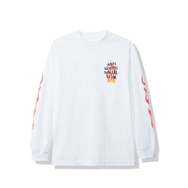 Firebird White Long Sleeve Tee