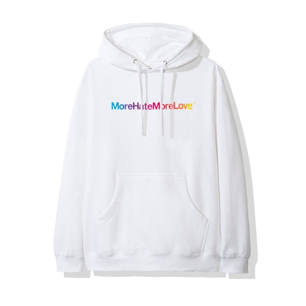 More Hate More Love White Hoodie