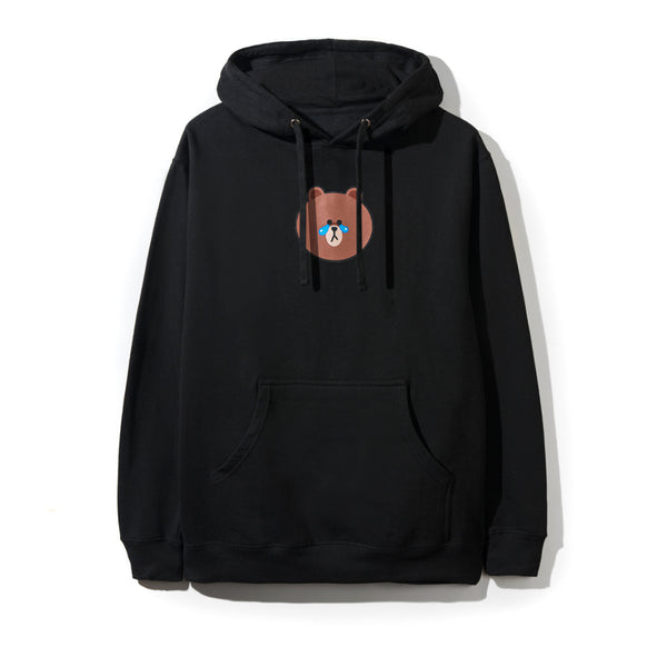 LINE FRIENDS | ASSC BROWN BLACK HOODIE