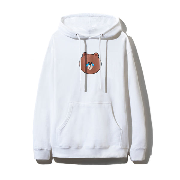 LINE FRIENDS | ASSC BROWN WHITE HOODIE