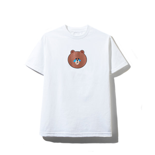 LINE FRIENDS | ASSC BROWN WHITE TEE