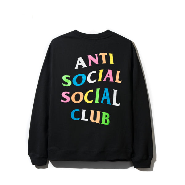 7aaa6aec Sold Out Rainbow Black Crewneck