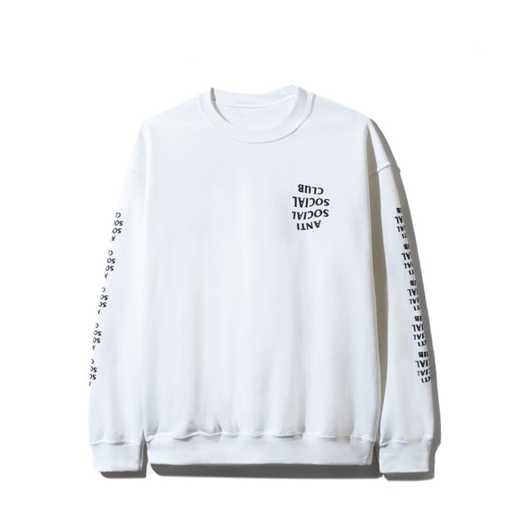Blacked Out White Long Sleeve Tee