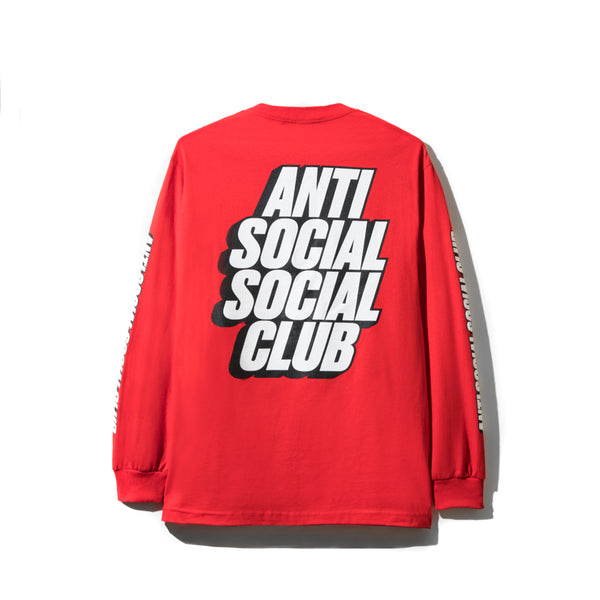 Block Me Red Long Sleeve Tee