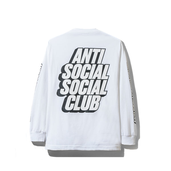Block Me White Long Sleeve Tee