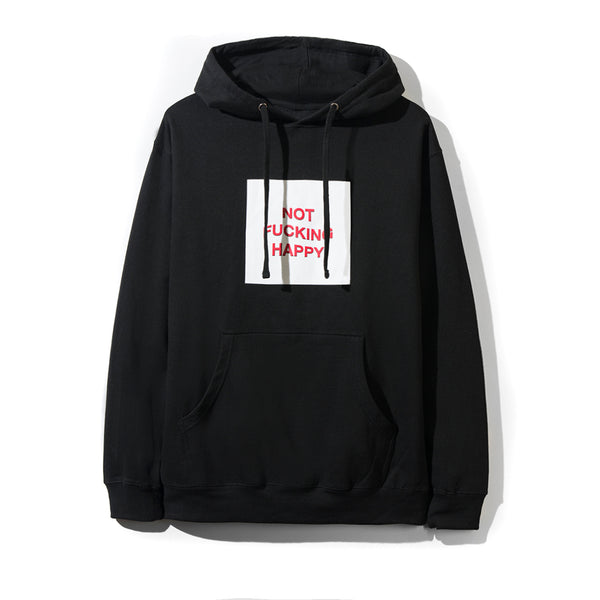 Not Fucking Happy Black Hoodie