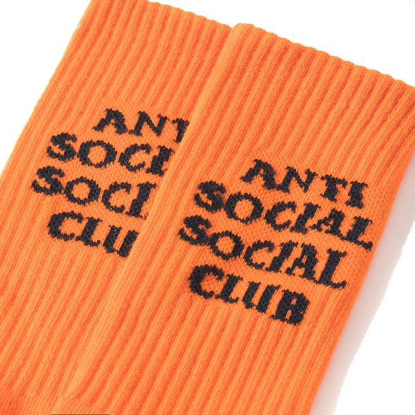 Neon Orange Socky Socks