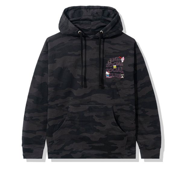 Hello Kitty and Friends x ASSC Black Camo Hoodie