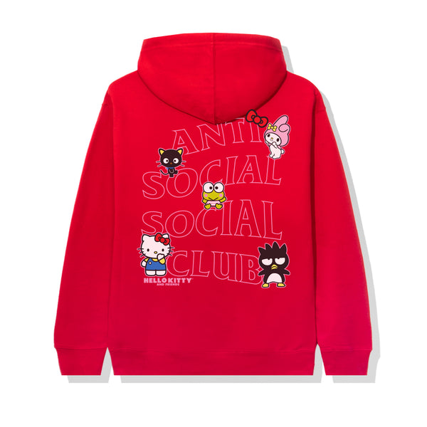 Hello Kitty and Friends x ASSC Red Hoodie