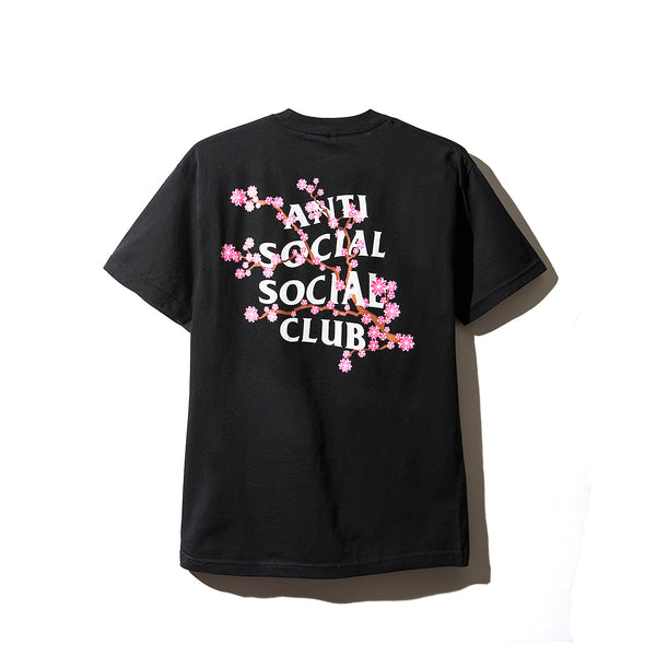 Cherry Blossum Black Tee