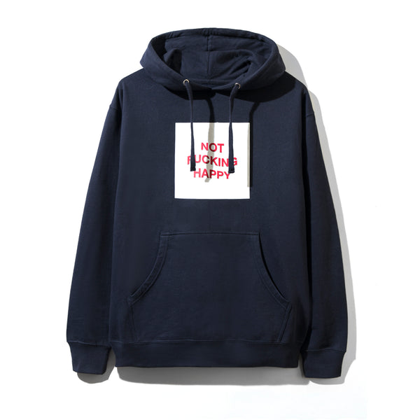 Not Fucking Happy Navy Hoodie