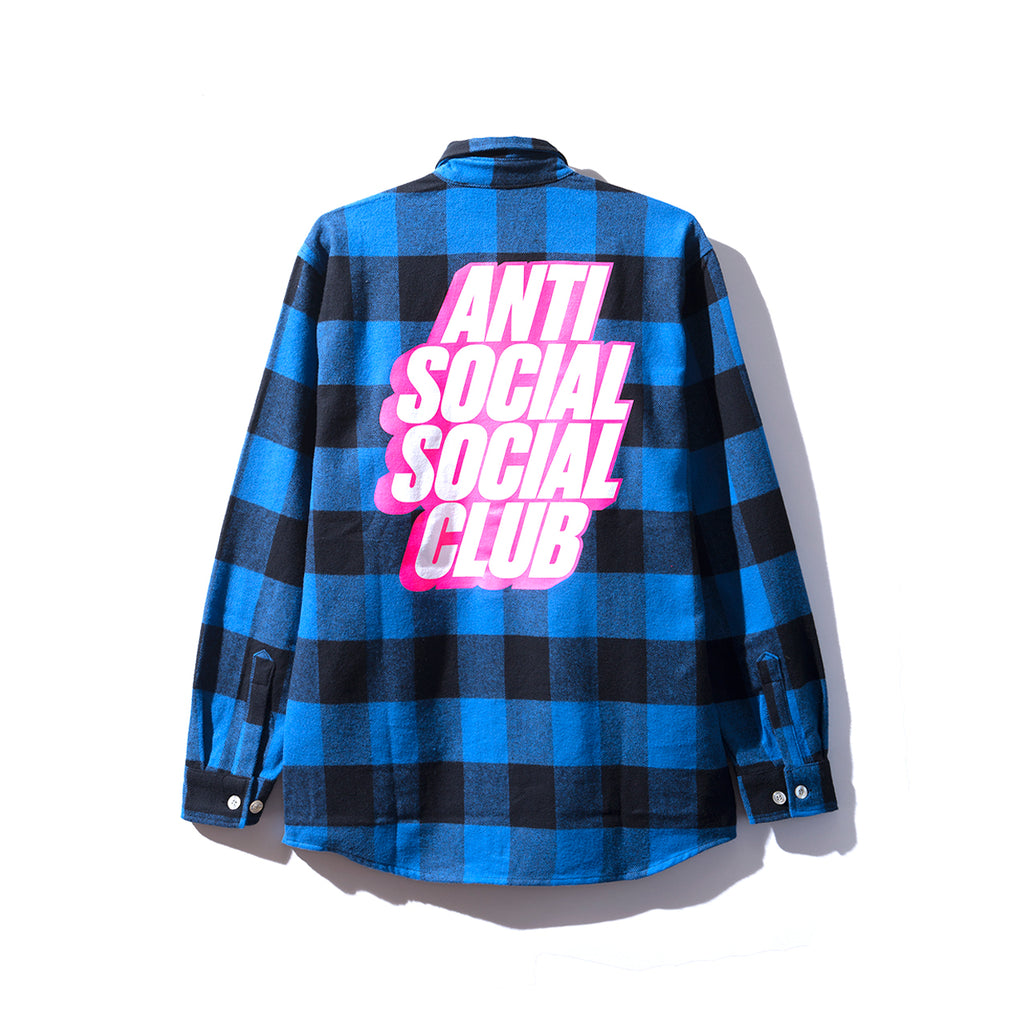 Blocked Logo - Blue Flannel