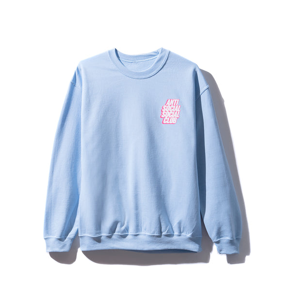 Blocked Logo Blue Crewneck