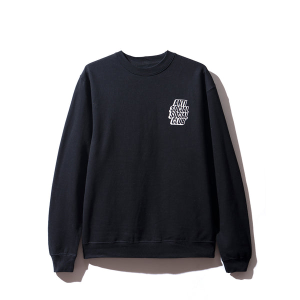 Blocked Logo Black Crewneck