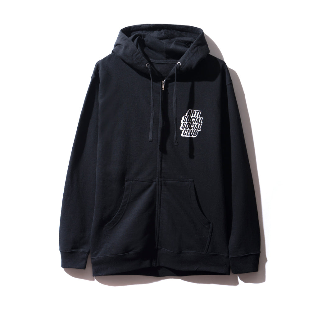 Blocked Black Zip Hoodie