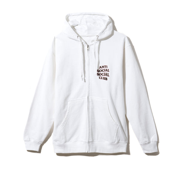Rodeo Dr. White Zip Hoodie