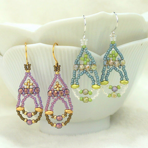 Mini bead kit - Garden Gate Earrings