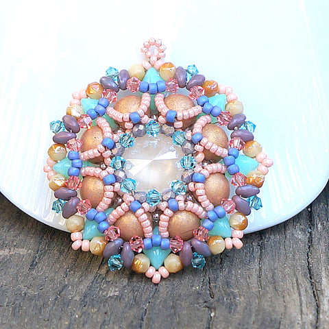 Mini bead kit - Sand Dollar Pendant
