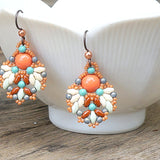 mini bead kit - Spanish Veil Earrings