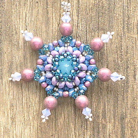 mini bead kit - sparkling snowflake ornament