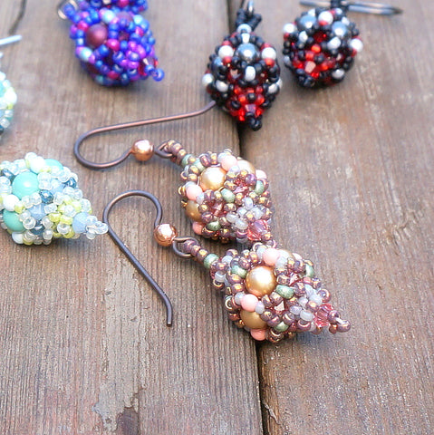 mini bead kit - Turkish Lantern Earrings