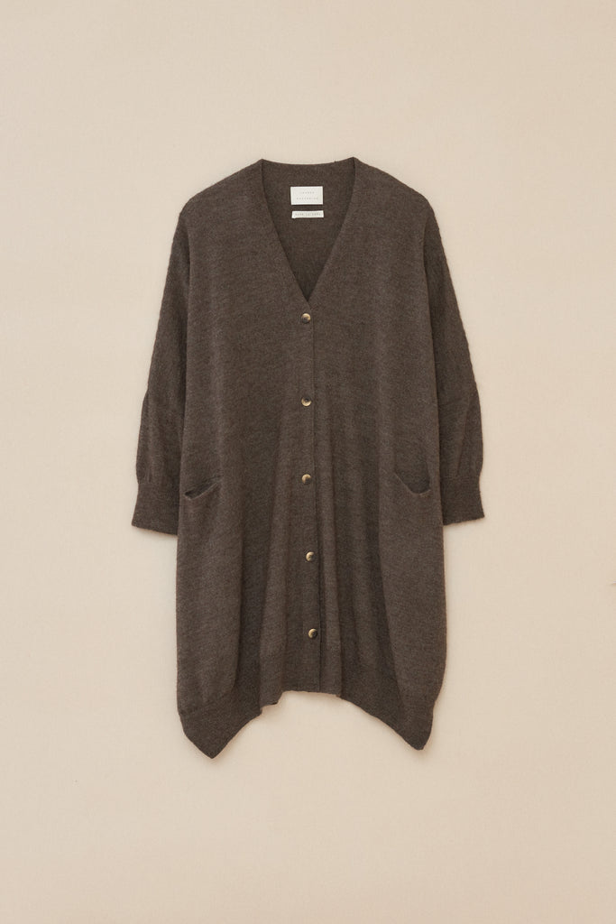 WIDE BUTTON CARDIGAN - hover image
