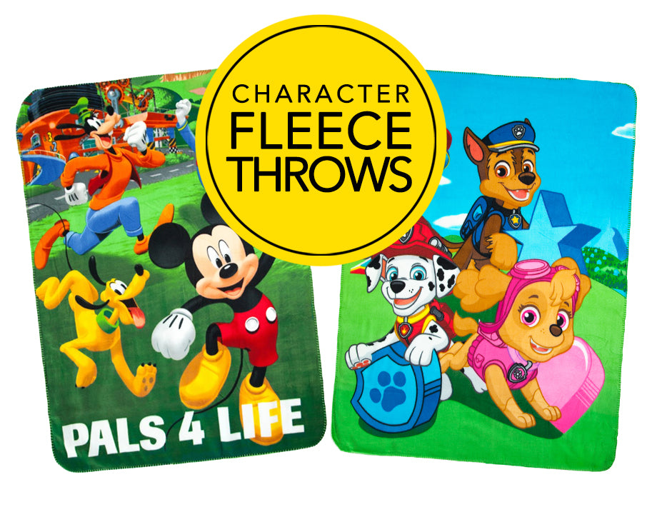 Character Fleece Throw Blankets
