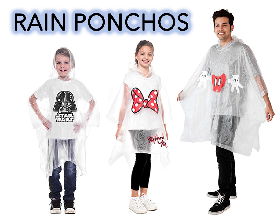 Disney & Star Wars Rain Ponchos - Perfect for Disney Parks!