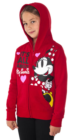Red Minnie Girls Hoodie