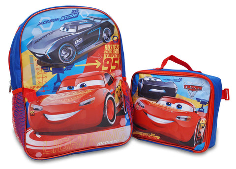 Cars Backpack with detachable lunch bag