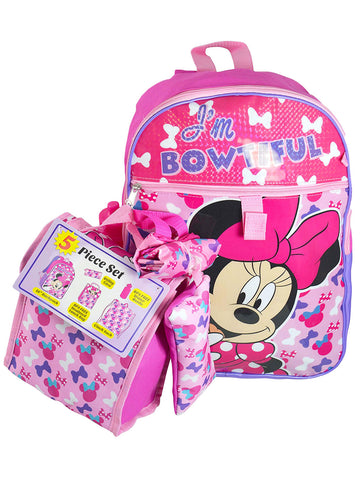 Minnie 5 piece backpack set