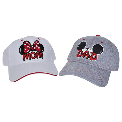 Minnie Mom and Mickey Dad Hats