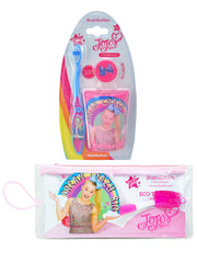 JoJo Siwa Girls Toothbrush Cap w/Rinsing Cup & Toothbrush Travel Kit Set