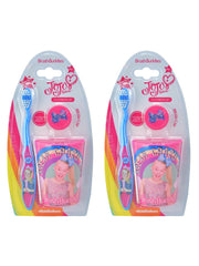 JoJo Siwa Girls Toothbrush Cap and Rinsing Cup (3-Pieces) Set 2-Pack