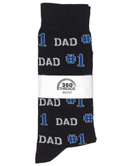 Men's #1 Dad Black Dress Novelty Socks and Irish Clover Lucky Socks Grey