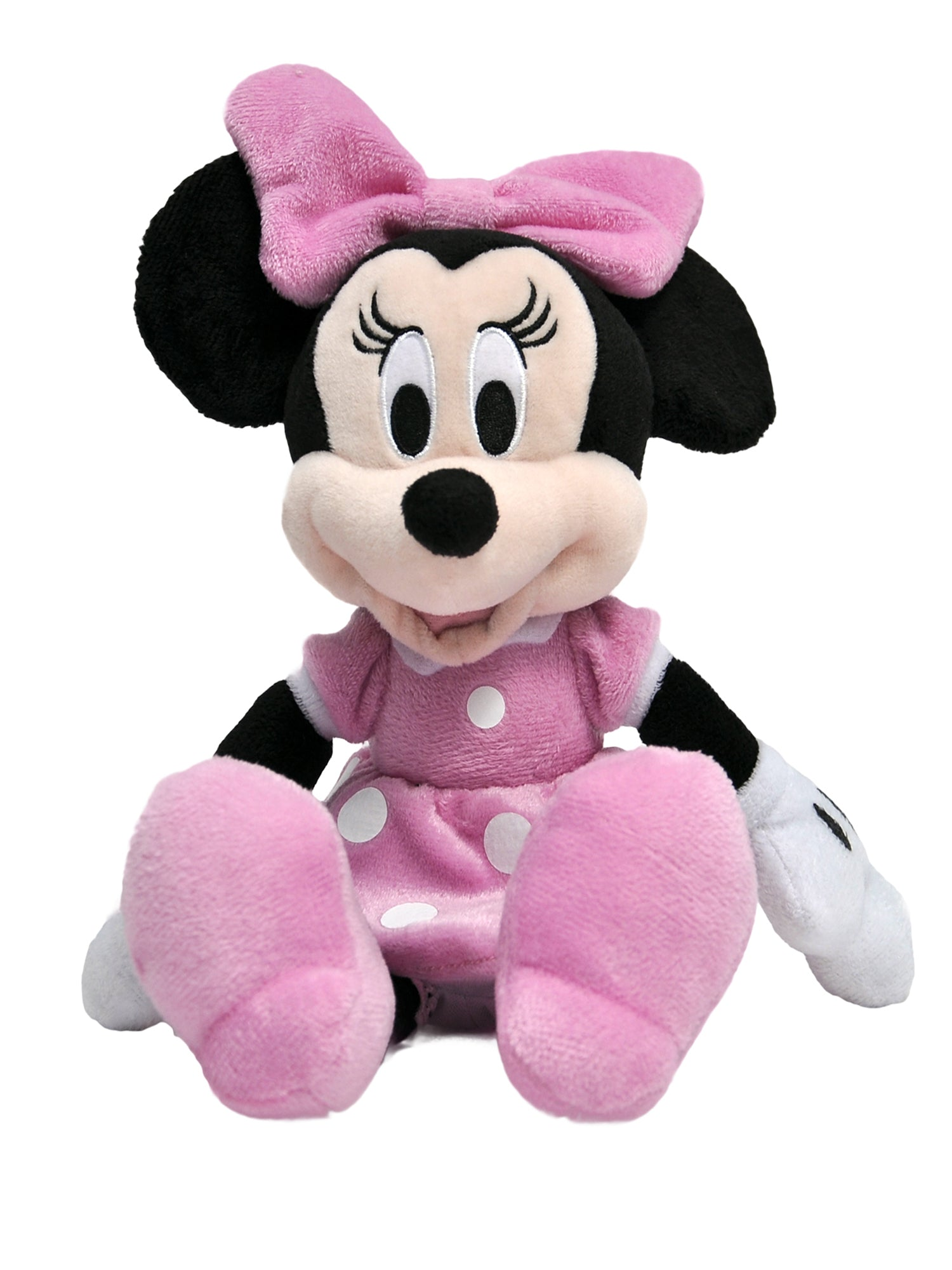 "Disney Minnie Mouse Plush Doll 11"" Pink Toy"