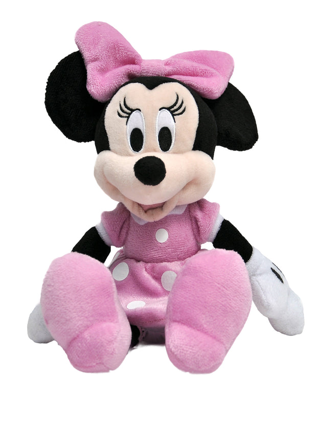 "Girls Disney Pink 11"" Minnie Mouse Plush Toy w/ 15"" Cinch Drawstring Bag Set"