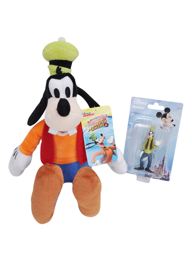 "Disney Goofy 11"" Plush Doll Toy & 2"" Figurine 2Pc Set"