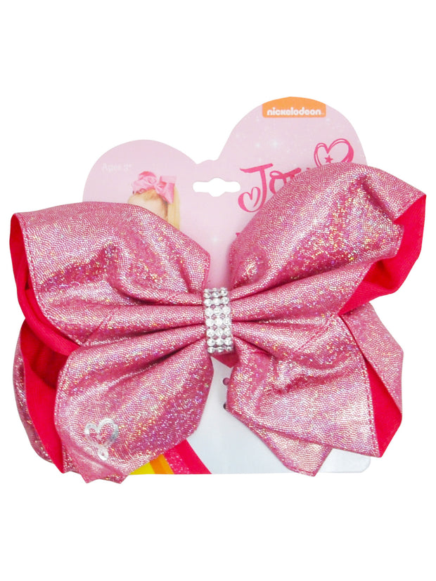 Girls Jojo Siwa Large Pink Bow with Glitter 7x5