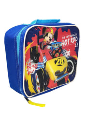 Disney Mickey Mouse Roadster Racer Insulated Lunch Bag Hot Doggin Hot Rod
