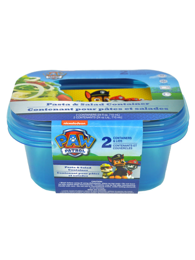 "Paw Patrol 15"" Backpack Sky Everest One team w/ Kids Food Container 2-pack Set"
