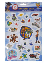Disney Mickey Racers 3D Raised Stickers w/ Toy Story 4 Raised Stickers (40-Ct)
