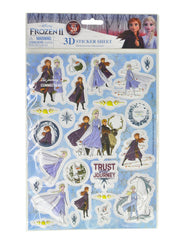 Disney Frozen II Charm Bracelet & Raised 3D Sticker Sheet (24-CT) 2-Piece Set